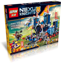 Lepin 14006 Nexo Knights The Fortrex Blocks Bricks Toys Game Castle Weapon Gun Gift