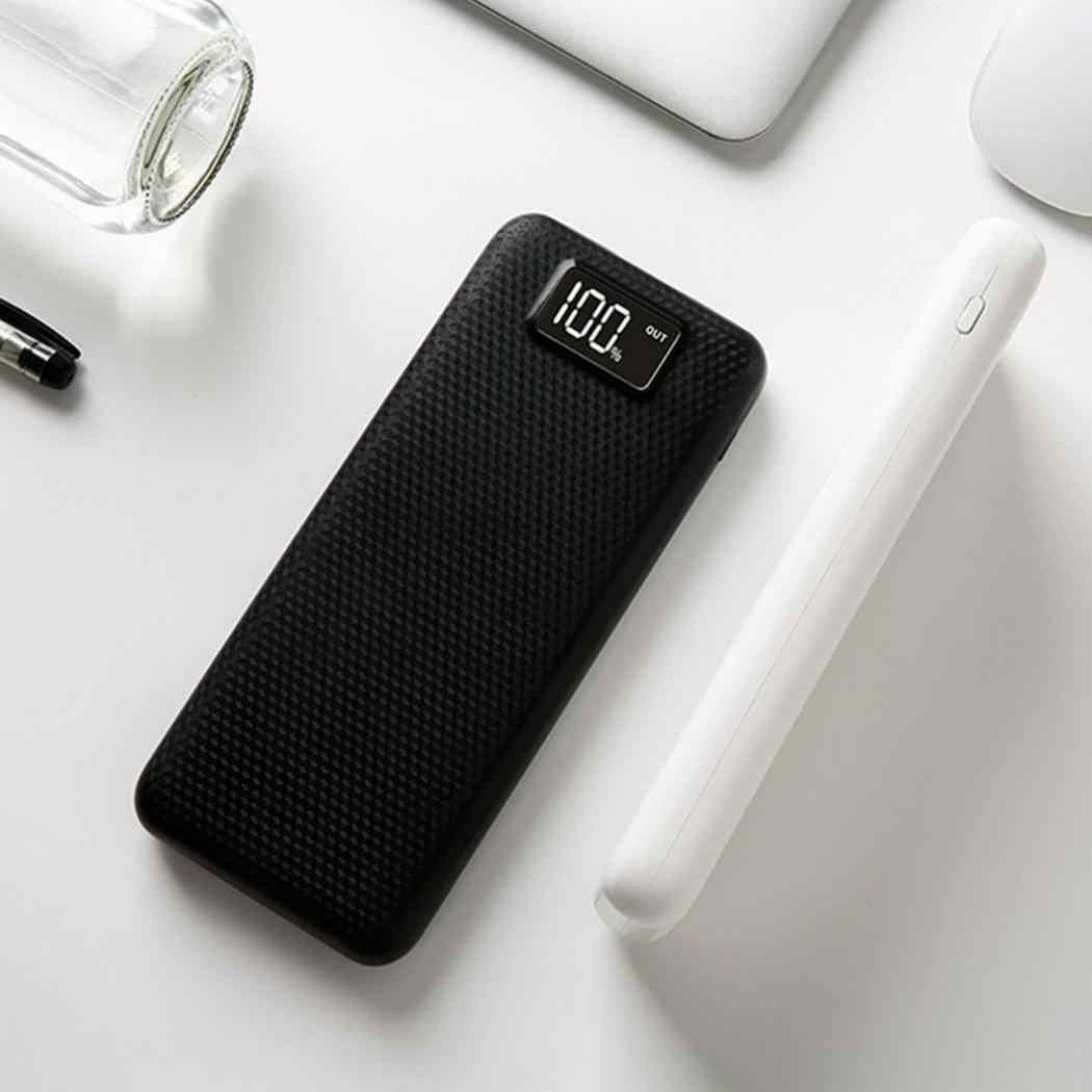 LED شاشة ديجيتال قوة البنك قذيفة المزدوج USB الناتج المحمول الطاقة حالة وحدة DIY كيت شاحن بطارية خارجي بطانة الصندوق