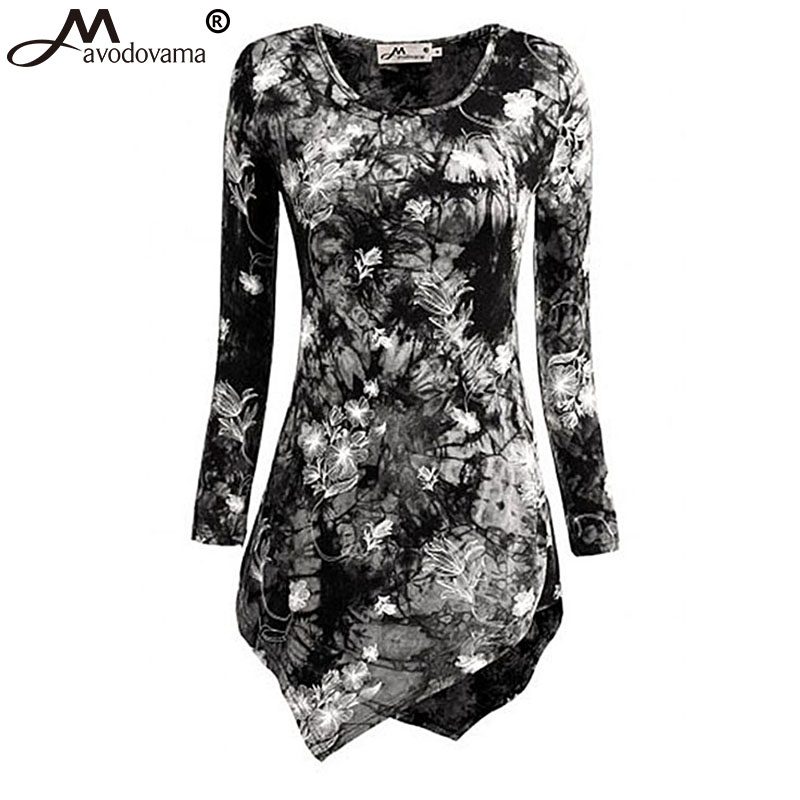 Avodovama M 2017 Women Fashion Blouse New Fashion Casual O Neck Long Sleeve Blouses Print Female
