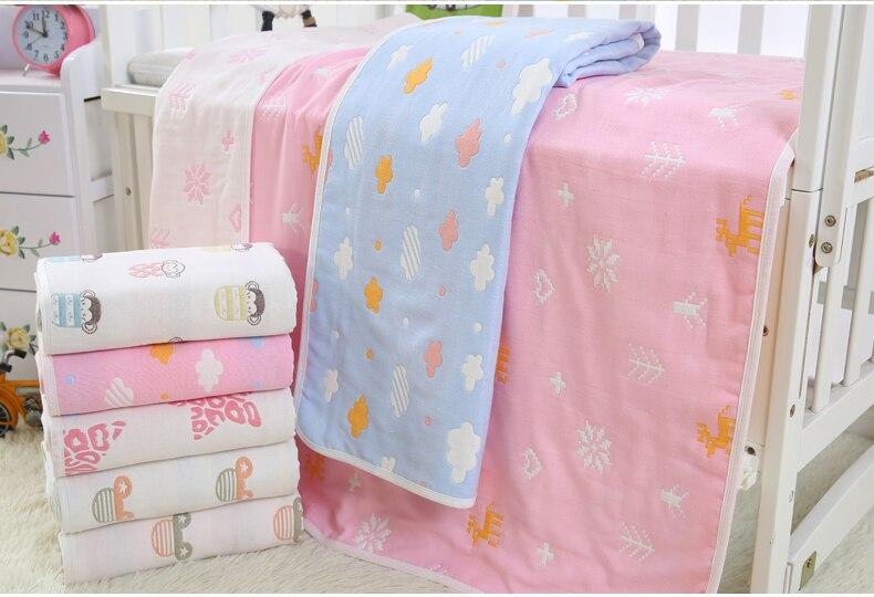 6 couches coton gaze bébé super doux couverture automne et hiver nouveau-né enfants couverture nouveau-né bébé douche serviette absorbante