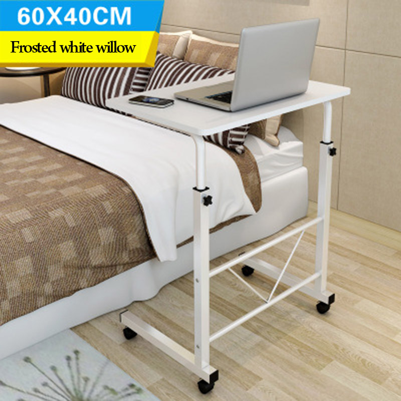 Купить с кэшбэком Wooden Adjustable height computer desk student dorm folding table computer desk Bedside desk Mobile table Office furniture