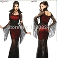 free shipping 2015 Hot Selling!!!!!!! New Women's Sexy Dresses Vampire Vixen Cosplay Costume Halloween Carnival Party Costume