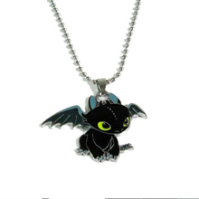 Kittenup Movie How to Train Your Dragon New Fashion Cute Toothless Necklace Pendant For Men Women Jewelry 0037