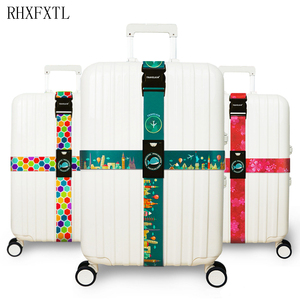 Image 1 - RHXFXTL Brand Luggage Cross belt adjustable Travel Suitcase band Luggage Suitcase rope Straps travel accessorie high quality H23