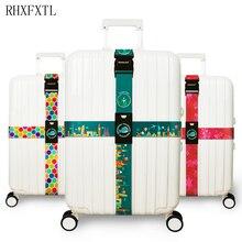 RHXFXTL marque bagages croix ceinture réglable valise de voyage bande bagages valise corde sangles accessoire de voyage de haute qualité H23