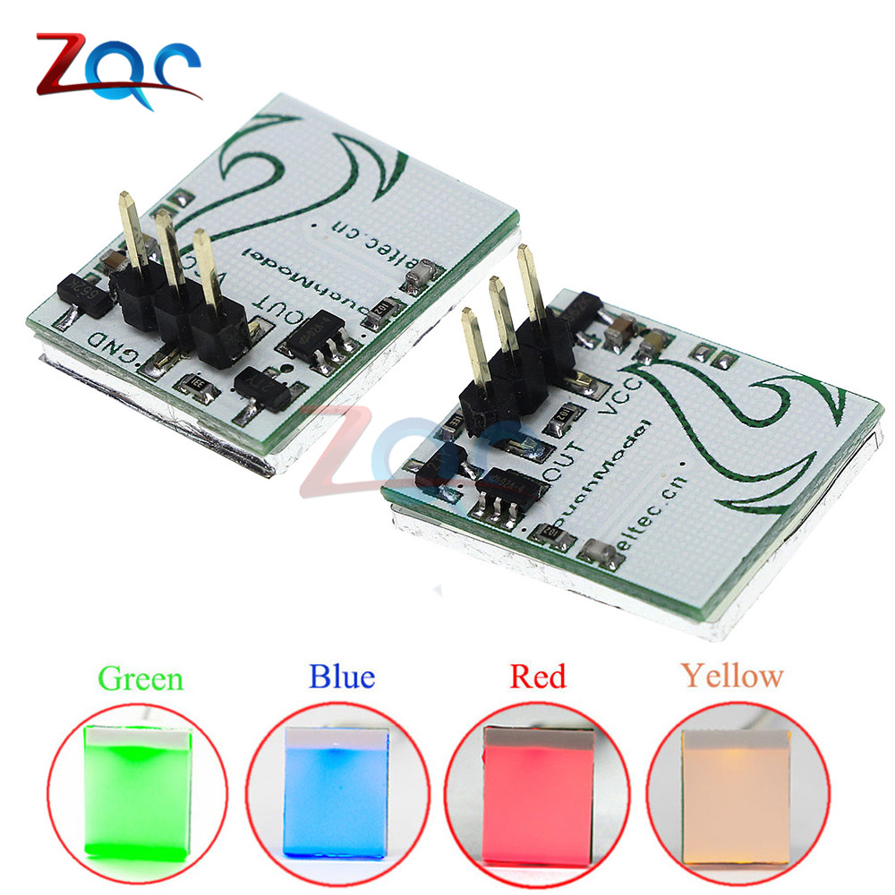 1pcs Capacitive Touch Switch Module HTTM Series 2.7V-6V Strong anti-interference Red Green yellow Yellow Color Colorful LED for bmw e36 318i 323i 325i 328i m3 carbon fiber headlight eyebrows eyelids 1992 1998