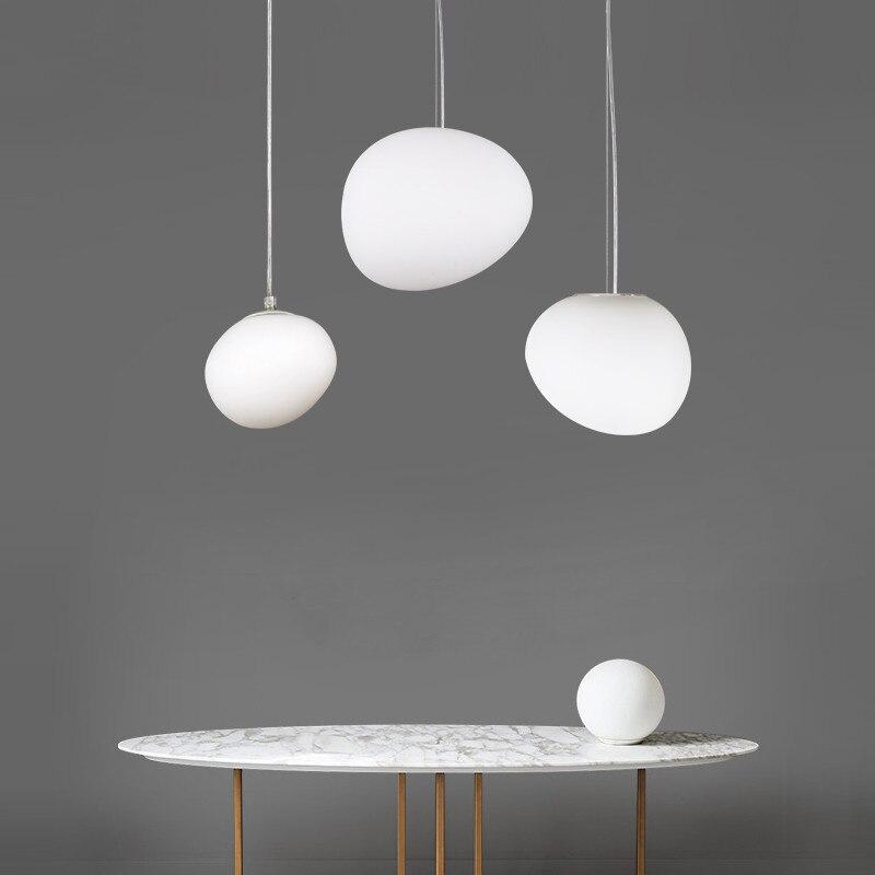 Nordic Pendant Lights LED pendant lamps round globe Glass Hanglamp for living room bedroom Luminaria Kitchen