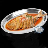 스테인레스 스틸 타원형 생선 접시 바베큐 요리