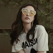 Heart  Cat Eye Women Sun Glasses brand designerRetro Love Shaped Ladies Shopping Sunglass UV400