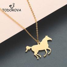 Женское ожерелье с подвеской «Лошадь» из нержавеющей стали