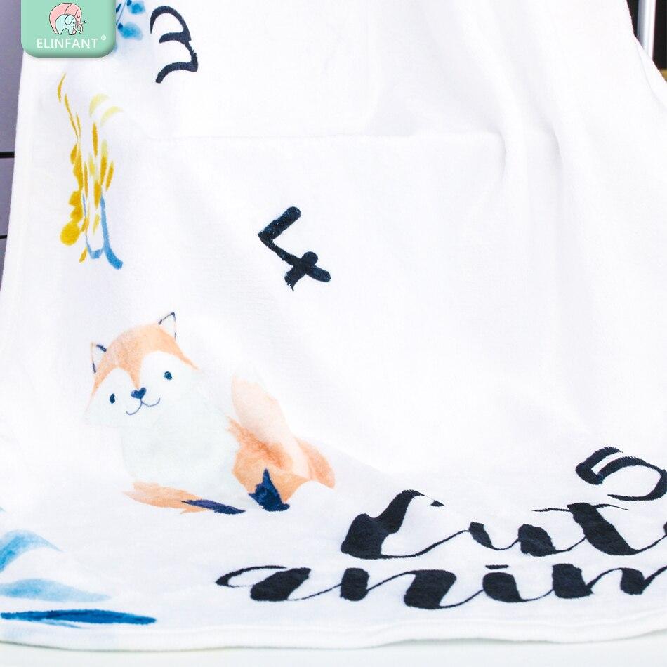 Elinfant/мягкие фланелевые купальные полотенца с принтом для новорожденных, Одеяло 100*145 см, реквизит для фотосессии, одеяло