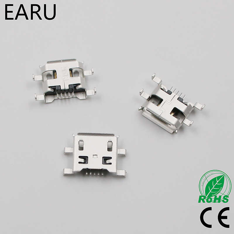 10 قطعة مايكرو USB 5pin B نوع 0.8 مللي متر أنثى موصل للهاتف المحمول مقبس USB صغير موصل 5pin مقبس شحن أربعة أقدام التوصيل
