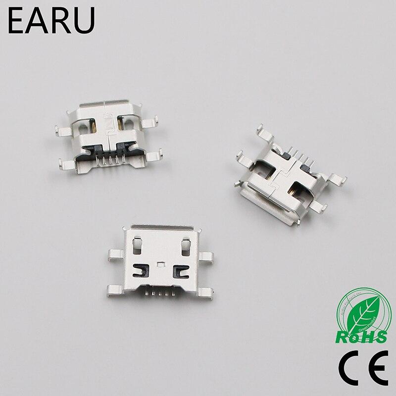 10 pièces Micro USB 5pin B type 0.8mm Connecteur Femelle Pour Téléphone Portable Mini USB Jack Connecteur 5pin Prise De Charge Quatre pieds prise