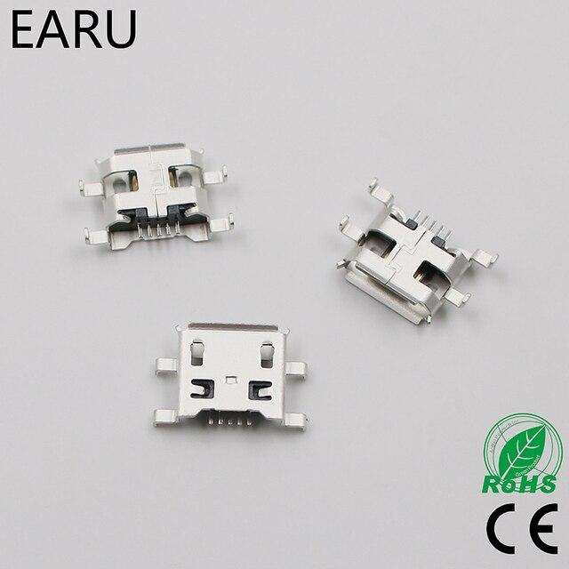 10 sztuk Micro USB 5pin B typ 0.8mm żeńskie złącze do telefonu komórkowego Mini USB łącze typu jack 5pin gniazdo ładowania cztery stopy wtyczki
