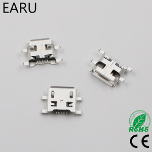10pcs Micro USB 5pin B type 0.8mm Female Connector For Mobile Phone Mini USB Jack Connector 5pin Charging Socket Four feet plug(China)