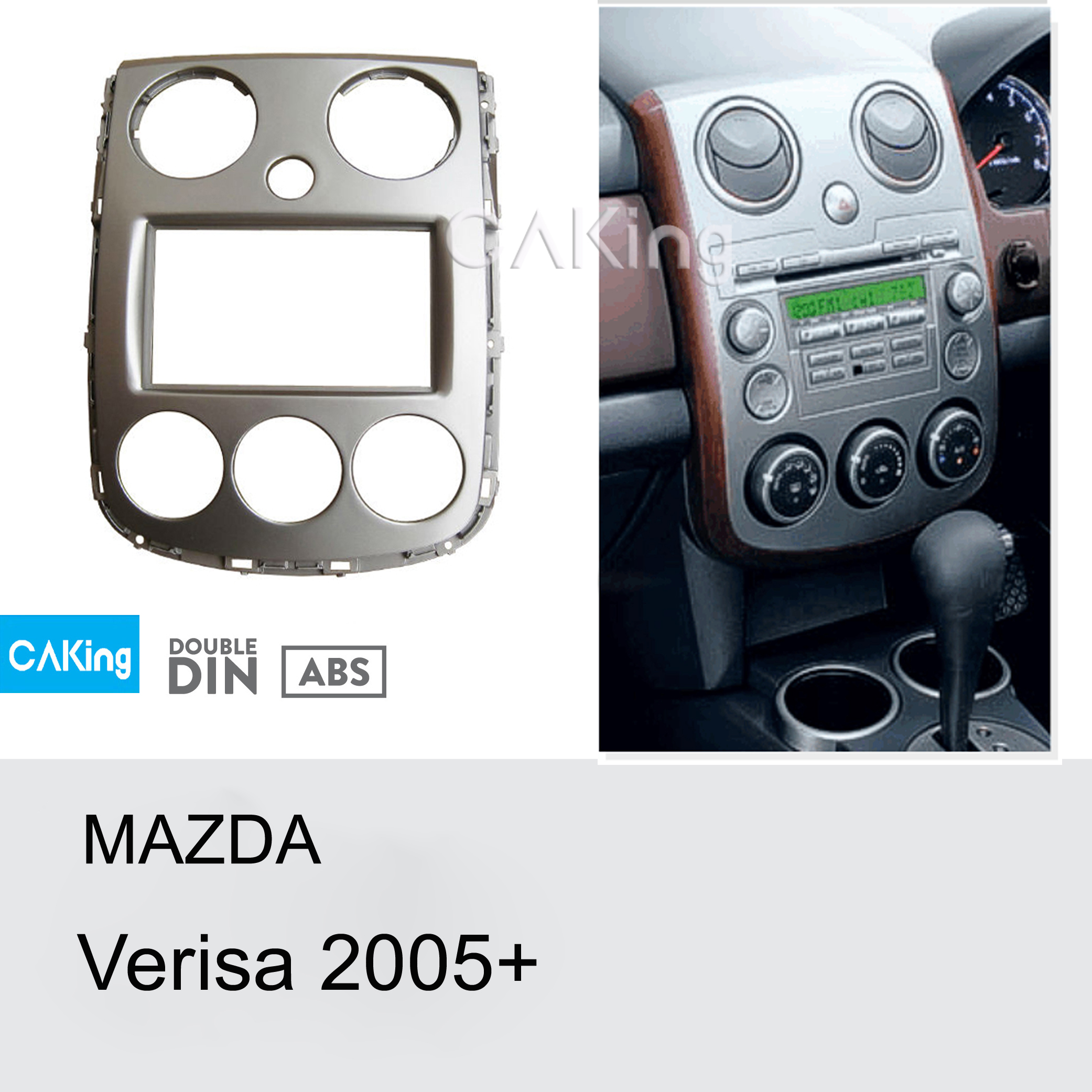 Double Din Car Fascia Radio Panel for Mazda Verisa 2005 Dash Fitting Kit Install Facia Plate