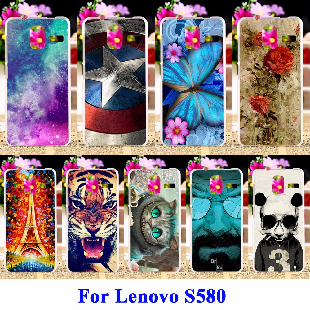 DIY Flexible Soft TPU Silicon Cases For Lenovo S580 Housing Bags Skin Shell Covers Protector Shield For Lenovo S580 Hood Cases