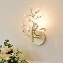 Простой современный LED Кристалл Бра Гостиная ТВ фон бра прикроватная тумбочка для спальни коридор креативного освещения WX411947