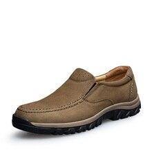 Новинка, мужские кроссовки для пешего туризма большого размера, кожаные кроссовки для альпинизма, мужские кроссовки для весны и осени, Мужская прогулочная обувь для улицы