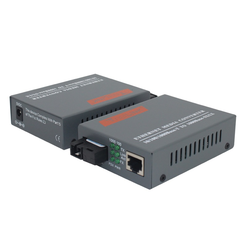 Image 3 - 1 Pair HTB GS 03 A/B Gigabit Fiber Optical Media Converter 1000Mbps Single Mode Single Fiber SC Port 20KM-in Fiber Optic Equipments from Cellphones & Telecommunications