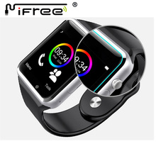 2016 A1 WristWatch Bluetooth BT Smart Healthy 2.5D LCD Watch Sport Pedometer With SIM Camera Smartwatch For Android Smartphone