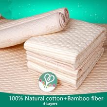 Alfombrilla para cambiar pañales de bebé, colchón de bebé transpirable, impermeable, esterilla de algodón reutilizable para bebé recién nacido