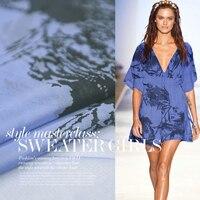 2014 August Silk Chiffon Printed Colorful Flowers Printed 100 Silk Dress Silk Cloth Free Shipping