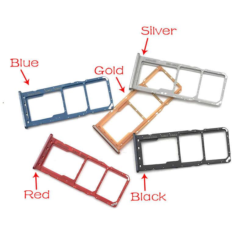 サムスンギャラクシー A30 A50 A305F A505F A305 A505 マイクロナノ SIM カードホルダートレイスロットホルダーアダプタソケット
