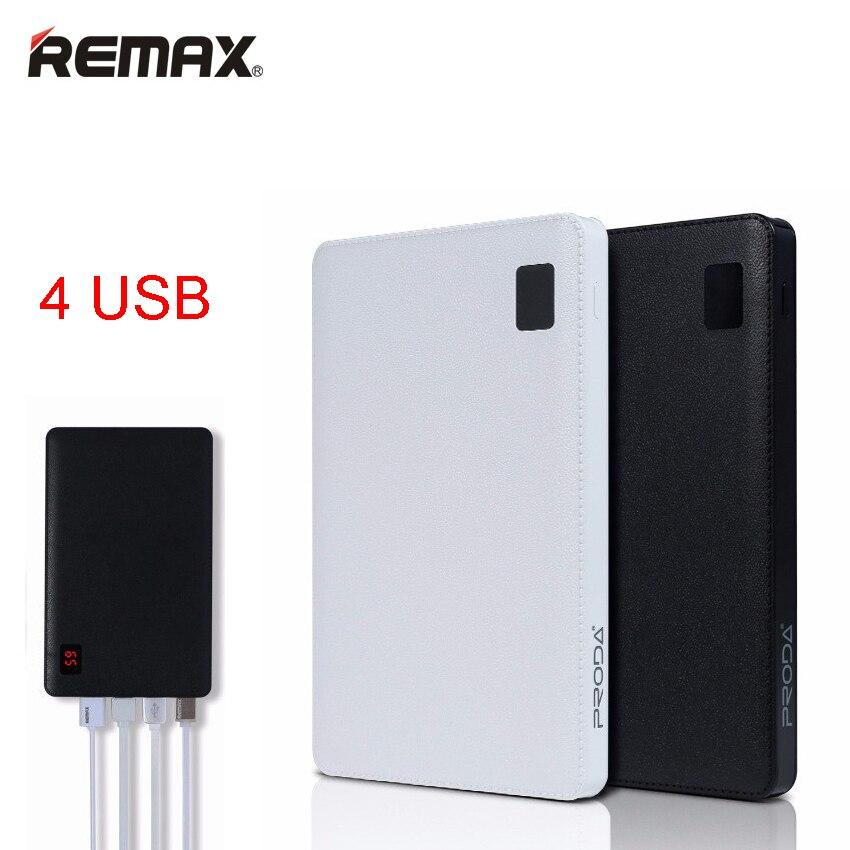 Remax-Proda Portable Mobile power bank 30000 mAh 4 USB Batterie Externe Chargeur universel batterie externe power Bank