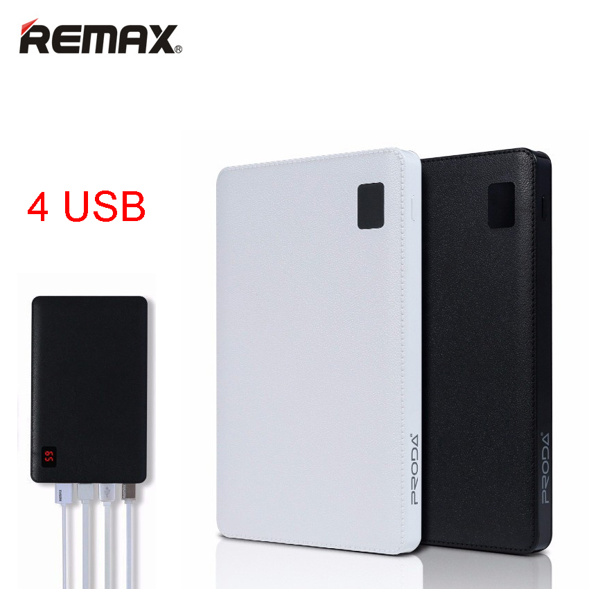 Remax Proda Notebook Mobile Power Bank 30000 MAh 4 USB External Battery Charger Universal External Battery