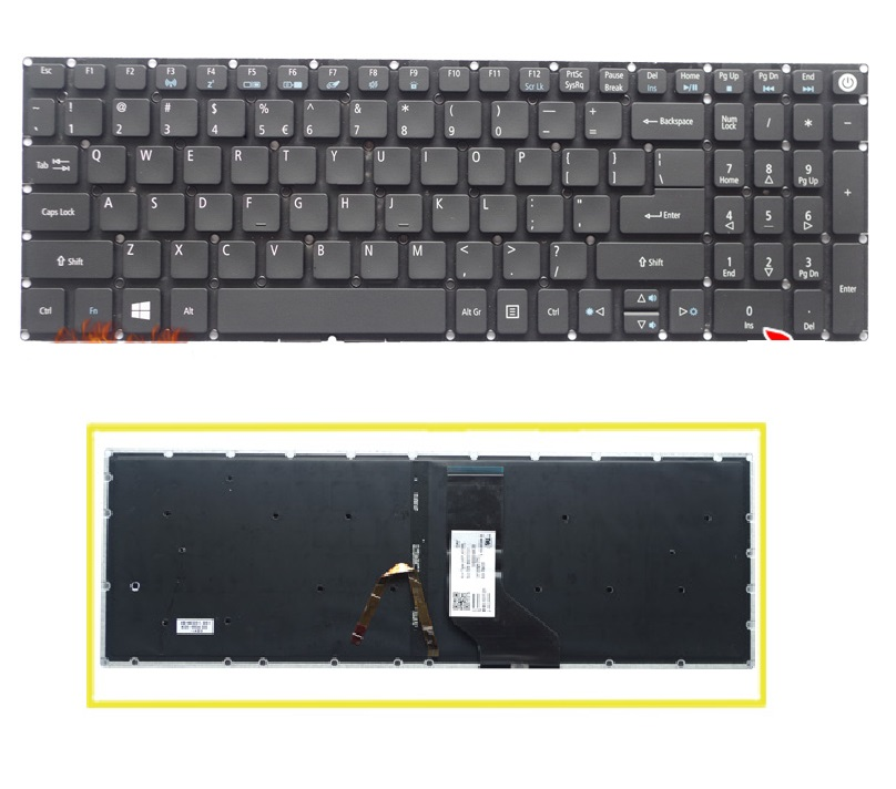 SSEA New US Keyboard with backlight For <font><b>Acer</b></font> E5-522 E5-522G E5-532 E5-532G E5-752G E5-752 E5-773 E5-<font><b>772G</b></font> E5-774 E5-532T image