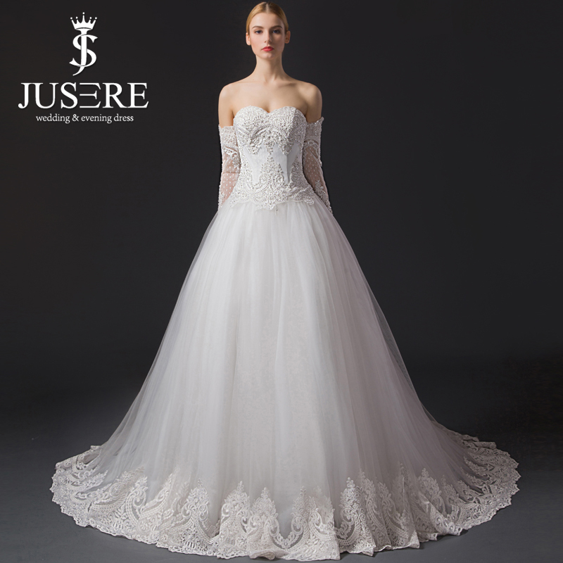Buy jusere a line appliques strapless for Strapless and backless wedding dress