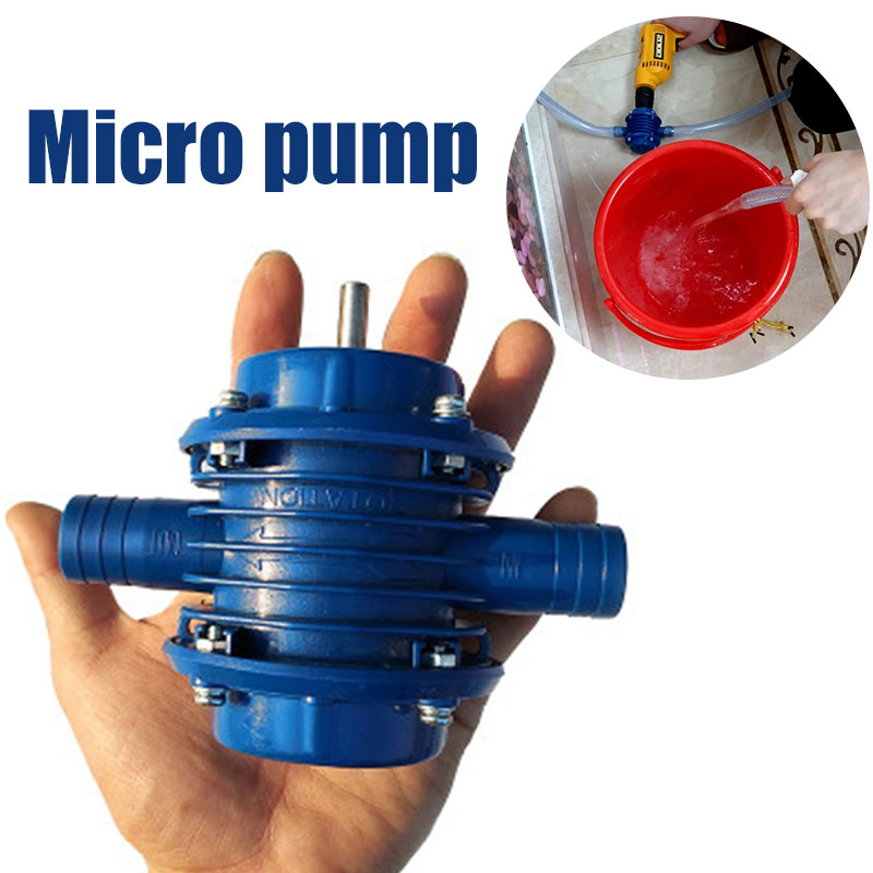 Practical Water Pump Blue Metal Electric Drill Accessories DIY Home Garden