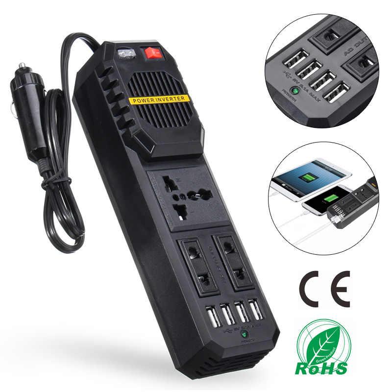 200 W Watts inwerter samochodowy 12 V do 220 V DC na konwerter mocy AC 4 USB 3.1A ładowarka fala Adapter automatyczny transformator napięcia