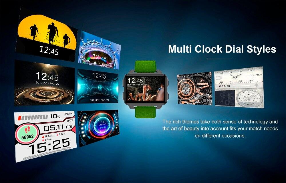 Torntisc DM99 Android Smart Watch Phone 1GB 16GB Big Screen 1200 Mah Battery 130W Camera Support GPS WiFi Nano SIM card MP4 Take Video 3G Smartwatch (5)