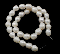 Rice Cultured Freshwater Pearl Beads Western Jewelry Natural White 11 12mm Hole Approx 3mm Sold Per