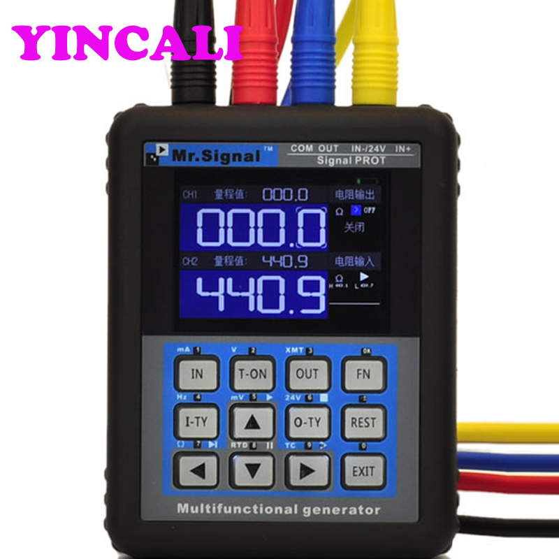 MR2.0TFT-P multifonctionnel générateur de Signal 4-20mA calibrage courant tension Signal transmetteur de pression Port USB Rechargeable