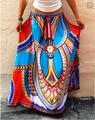 Thailand Wind Printing Large Swing Skirts Women's Bohemian Milk Silk Ice Silk Long Skirt Floor-length Maxi Skirt
