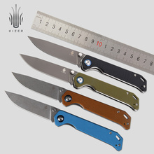 Kizer knife survival tactical knife hunting folding blade VG10 stainless steel knife outdoor camping knife tool g10 handle tools c12 knife c12sbk2 matriarch2 folding knife c10 3 5 8 vg10 serrated blade tactical hunting camping knife