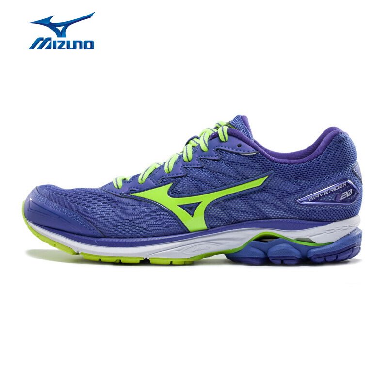 MIZUNO Women WAVE RIDER 20 Professional Running Shoes Breathable Sports Shoes Cushion Sneakers J10GD170344 XYP606 цена