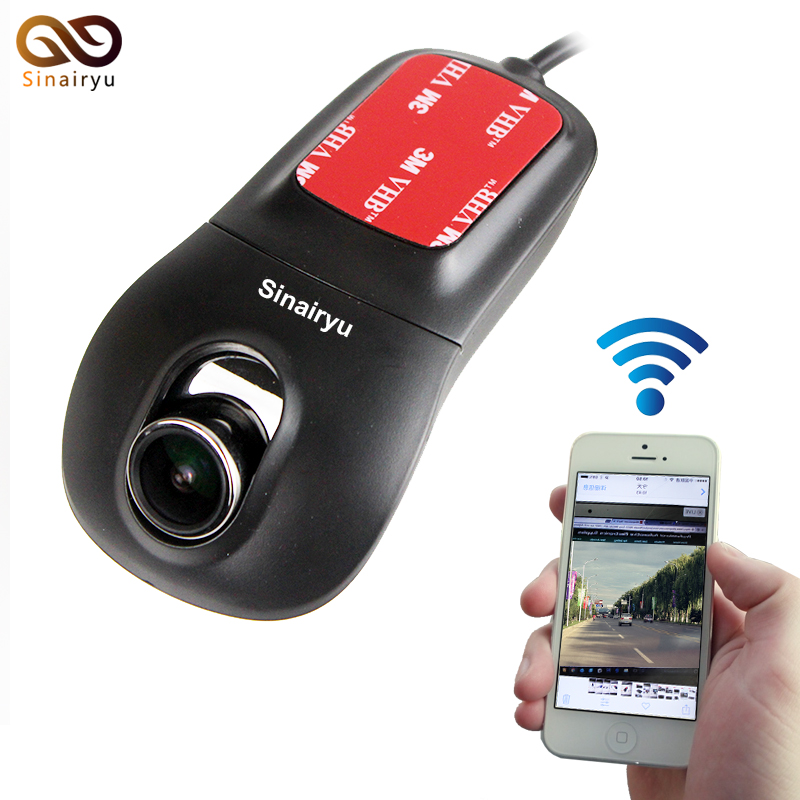 Sinairy Car Dash Cam with Wifi Car DVR Camera APP Support IOS/Android  System Recorder 170 Degree Super Wide Angle Loop Recording