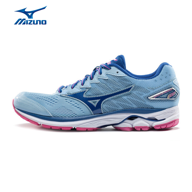 MIZUNO Women WAVE RIDER 20 Professional Running Shoes Breathable Sports Shoes Cushion Sneakers J1GD170327 XYP606 цена
