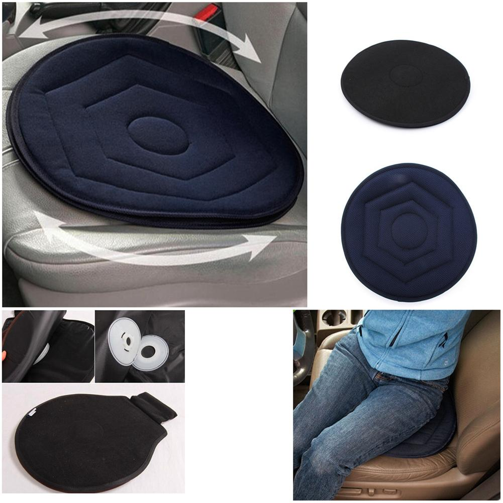 1pcs Non-slip Seat Revolving Rotating Cushion Memory Swivel Foam Mobility Aid Seat Cushion In Chair Tie On Pad Dark Blue