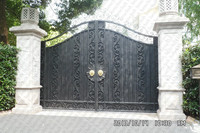Металлические передние садовые ворота железные ворота компания патио ворота из кованого железа