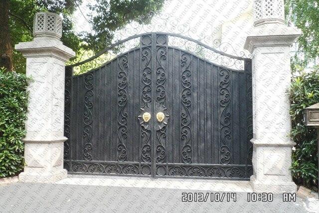 € 326.09 |Portes de jardin avant en métal porte en fer entreprise portes de  patio en fer forgé dans Portes de Rénovation sur AliExpress.com | ...