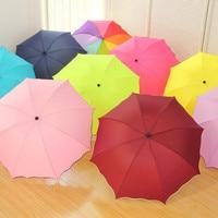 2017 Men Women Sunshade Umbrella Fully-automatic Aluminium Alloy Strong Frame Three Folding Colorful Sunny Rainy Umbrella