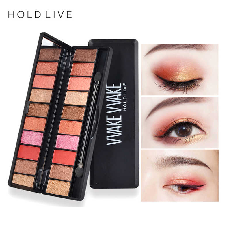 все цены на HOLD LIVE 10 Colors Eyeshadow Palette Matte Diamond Glitter Pigment Eye Shadow Palettes With Blush Makeup Set Cosmetics Beauty