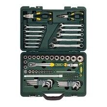 Набор ручного инструмента KRAFTOOL 27977-H84 (84 предмета, торцовые головки, трещотка, ключи, набор бит, кейс)