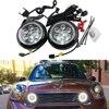 Super Bright One Set Mini Rally Driving DRL Angel Eyes Fog Light For R55 Clubman R56