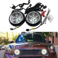 Super Bright One Set Mini Rally Driving DRL Angel Eyes Fog Light For R55 Clubman R56 Hatch R57 R58 Coupe R60 Countryman R61 F56